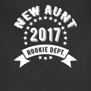 New Aunt 2017 Rookie Dept T-Shirts - Adjustable Apron