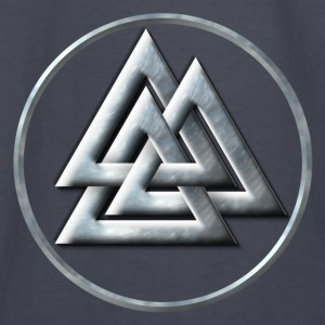 Norse Valknut - Silver with Ring - Kids' Long Sleeve T-Shirt