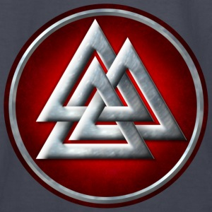 Norse Valknut - Silver and Red - Kids' Long Sleeve T-Shirt
