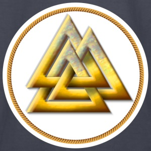 Norse Valknut - Gold and White - Kids' Long Sleeve T-Shirt