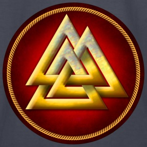 Norse Valknut - Gold and Red - Kids' Long Sleeve T-Shirt