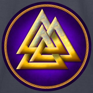 Norse Valknut - Gold and Purple - Kids' Long Sleeve T-Shirt