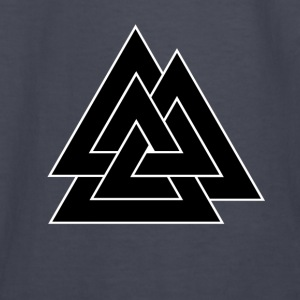 Norse Valknut - Black - Kids' Long Sleeve T-Shirt