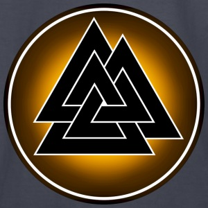 Norse Valknut - Black and Yellow - Kids' Long Sleeve T-Shirt