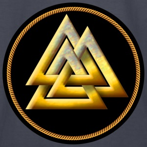 Norse Valknut - Gold and Black - Kids' Long Sleeve T-Shirt