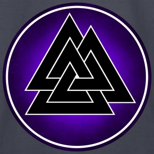 Norse Valknut - Black and Purple - Kids' Long Sleeve T-Shirt