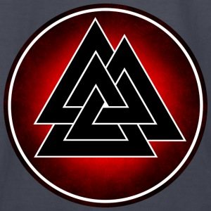 Norse Valknut - Black and Red - Kids' Long Sleeve T-Shirt