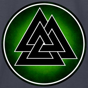 Norse Valknut - Black and Green - Kids' Long Sleeve T-Shirt