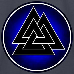 Norse Valknut - Blackand Blue - Kids' Long Sleeve T-Shirt