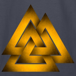 Norse Valknut - Yellow - Kids' Long Sleeve T-Shirt