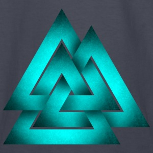 Norse Valknut - Teal - Kids' Long Sleeve T-Shirt