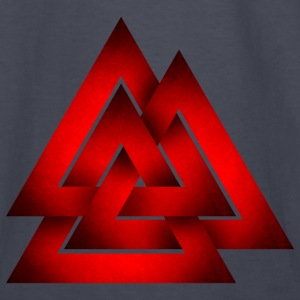 Norse Valknut - Red - Kids' Long Sleeve T-Shirt