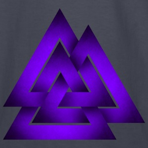 Norse Valknut - Purple - Kids' Long Sleeve T-Shirt