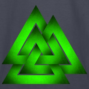 Norse Valknut - Green - Kids' Long Sleeve T-Shirt
