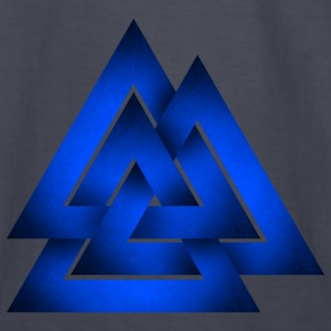 Norse Valknut - Blue - Kids' Long Sleeve T-Shirt