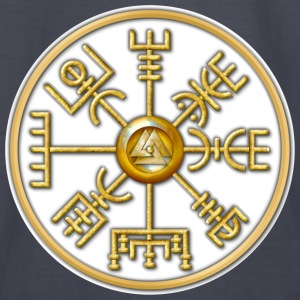 Norse Vegvisir - Gold and White - Kids' Long Sleeve T-Shirt