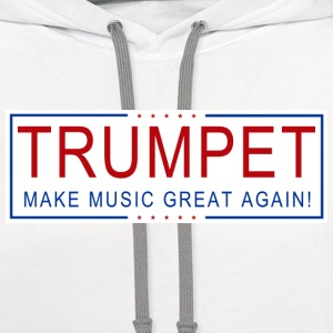 TRUMPET Make Music Great! T-Shirts - Contrast Hoodie