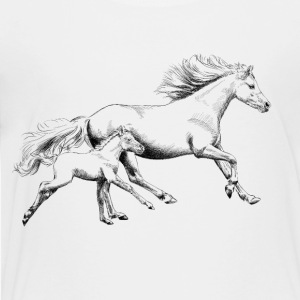 Mare with foal Kids' Shirts - Toddler Premium T-Shirt