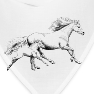 Mare with foal T-Shirts - Bandana