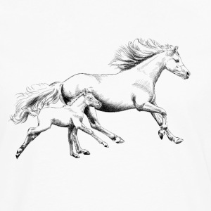 Mare with foal T-Shirts - Men's Premium Long Sleeve T-Shirt