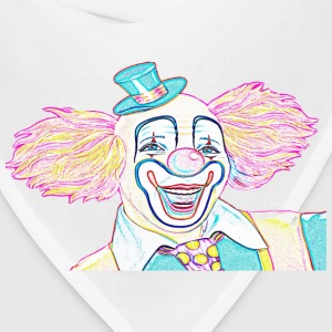 Colorful Clown Sketch - Bandana