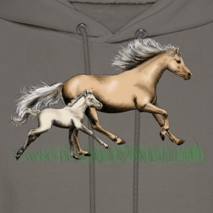 Mare with foal T-Shirts - Men's Hoodie