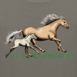 Mare with foal T-Shirts - Men's Premium Tank