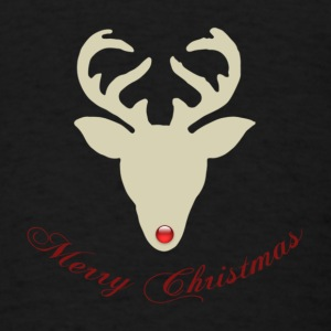 Reindeer-silhouette-red-nose.png Baby Bodysuits - Men's T-Shirt