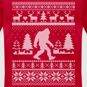 Sasquatch Christmas Long Sleeve Shirts - Men's T-Shirt by American Apparel
