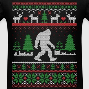 Sasquatch Ugly Christmas Long Sleeve Shirts - Men's T-Shirt
