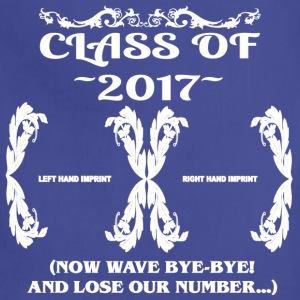 Class of 2017- Keepsake - Lose Our Number - Adjustable Apron