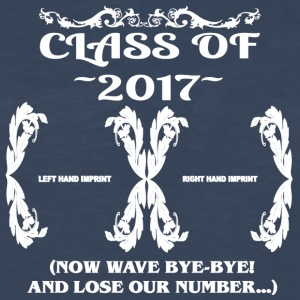 Class of 2017- Keepsake - Lose Our Number - Men's Premium Long Sleeve T-Shirt