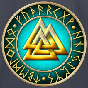 Norse Valknut Runes - Teal - Kids' Long Sleeve T-Shirt