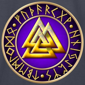 Norse Valknut Runes - Purple - Kids' Long Sleeve T-Shirt