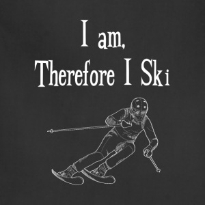I Am Therefore I Ski Winter Sports Skiing T-Shirt T-Shirts - Adjustable Apron