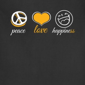 Peace Love Happiness - Adjustable Apron