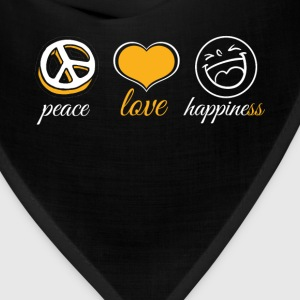Peace Love Happiness - Bandana