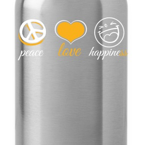 Peace Love Happiness - Water Bottle