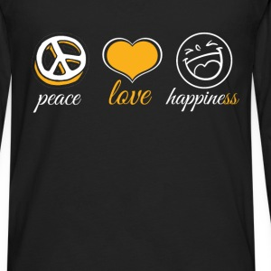 Peace Love Happiness - Men's Premium Long Sleeve T-Shirt