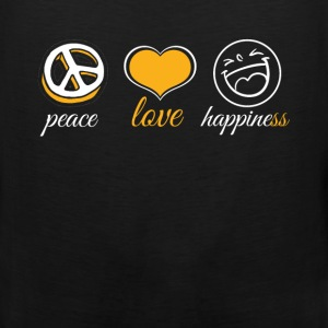 Peace Love Happiness - Men's Premium Tank