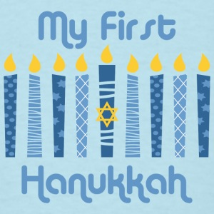 1st Hanukkah Candles Baby Bodysuits - Men's T-Shirt