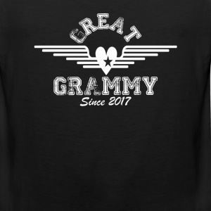 Great Grammy Since 2017 T-Shirts - Men's Premium Tank