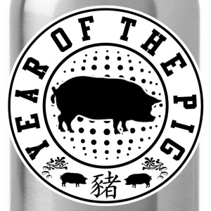 YEAR PIG 2019 DJFHDJF T-Shirts - Water Bottle