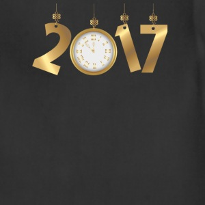2017 Happy New Years Gold Countdown to Midnight T-Shirts - Adjustable Apron