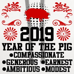 PIG PIGPIG 2019 ASDC.png T-Shirts - Contrast Hoodie