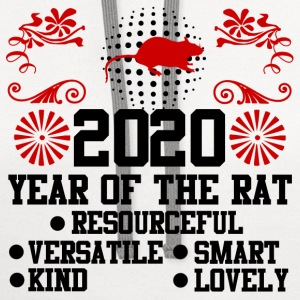 2020,happy new year,new year,rat,YEAR OF THE RAT - Contrast Hoodie