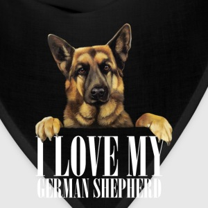 I love my german shepherd - Bandana