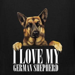 I love my german shepherd - Men's Premium Tank