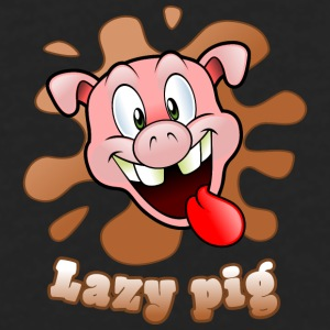 lazy pig Mugs & Drinkware - Men's Premium Long Sleeve T-Shirt