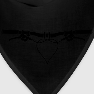 MTB handlebars with heart Shirt - Bandana